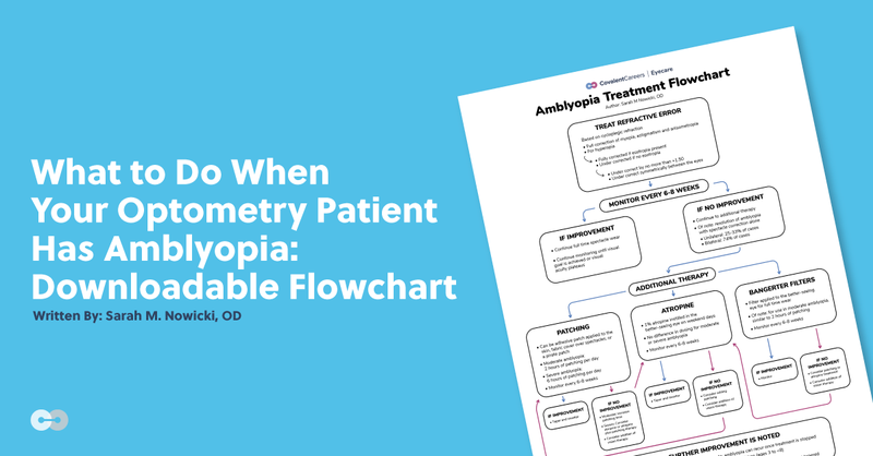 What to Do When Your Optometry Patient Has Amblyopia: Downloadable Flowchart