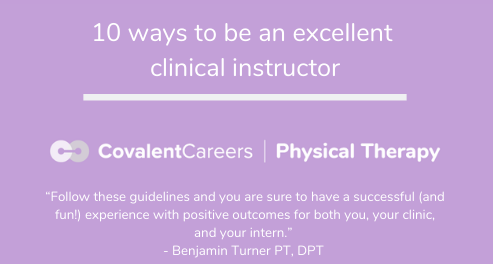10 Ways to be an Excellent Clinical Instructor