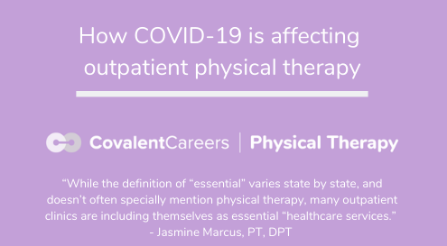 How COVID-19 is Affecting Outpatient Physical Therapy