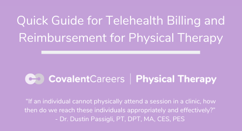 Quick Guide for Telehealth Billing and Reimbursement for Physical Therapy