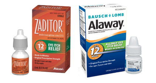 Zaditor Alcon and Alaway Bausch + Lomb