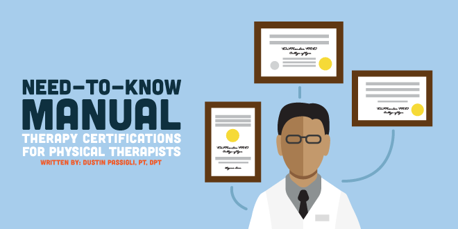 Need-to-Know Manual Therapy Certifications for Physical Therapists