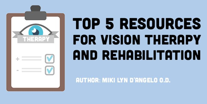 Top 5 Resources for Vision Therapy & Rehabilitation