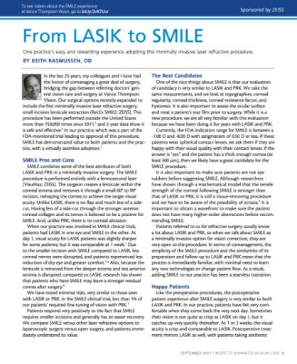 From LASIK to SMILE