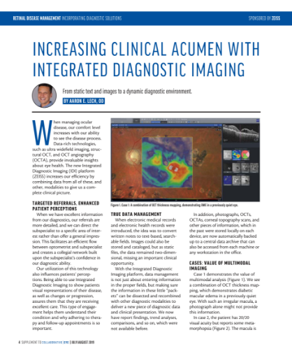 Increasing Clinical Acumen with Integrated Diagnostic Imaging