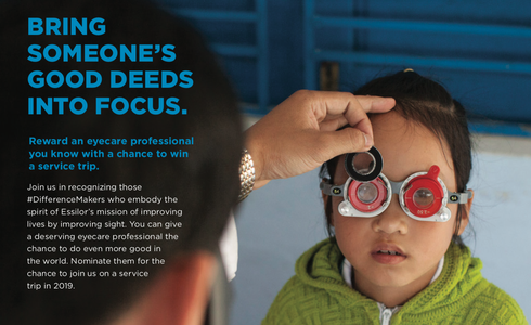 Essilor Recognizes Eyecare #DifferenceMakers With New Campaign