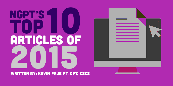 Top 10 Physical Therapy Articles - 2015